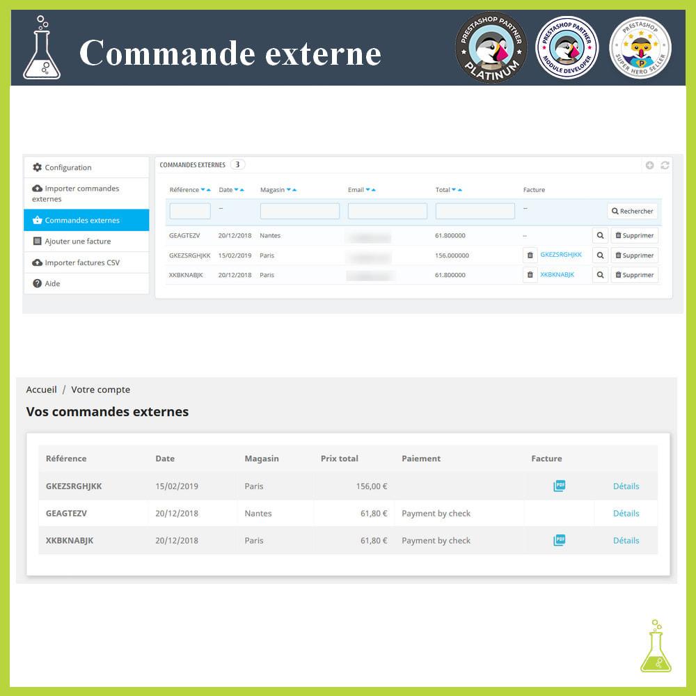 module - Gestion des Commandes - Importer des commandes externes - 1