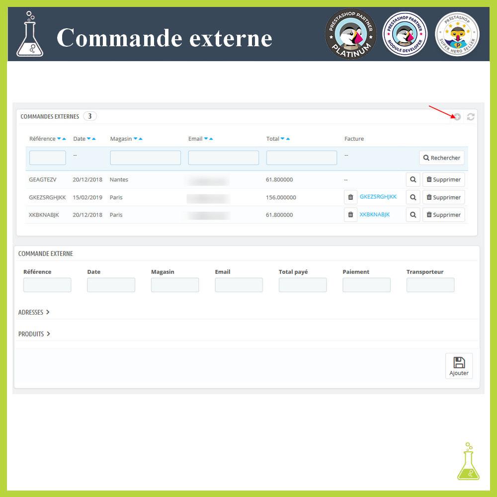 module - Gestion des Commandes - Importer des commandes externes - 9