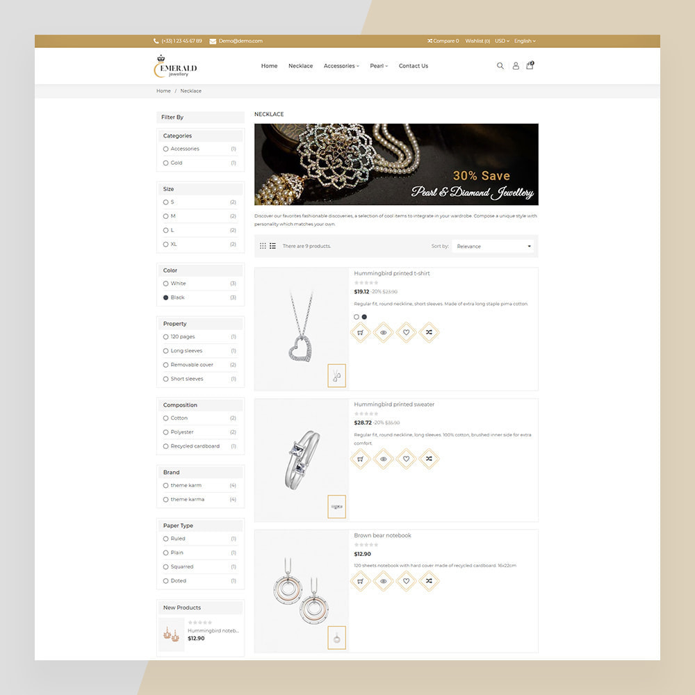 theme - Sieraden & Accessoires - Emerald Jewelry - Jewellery & Accessories Template - 8