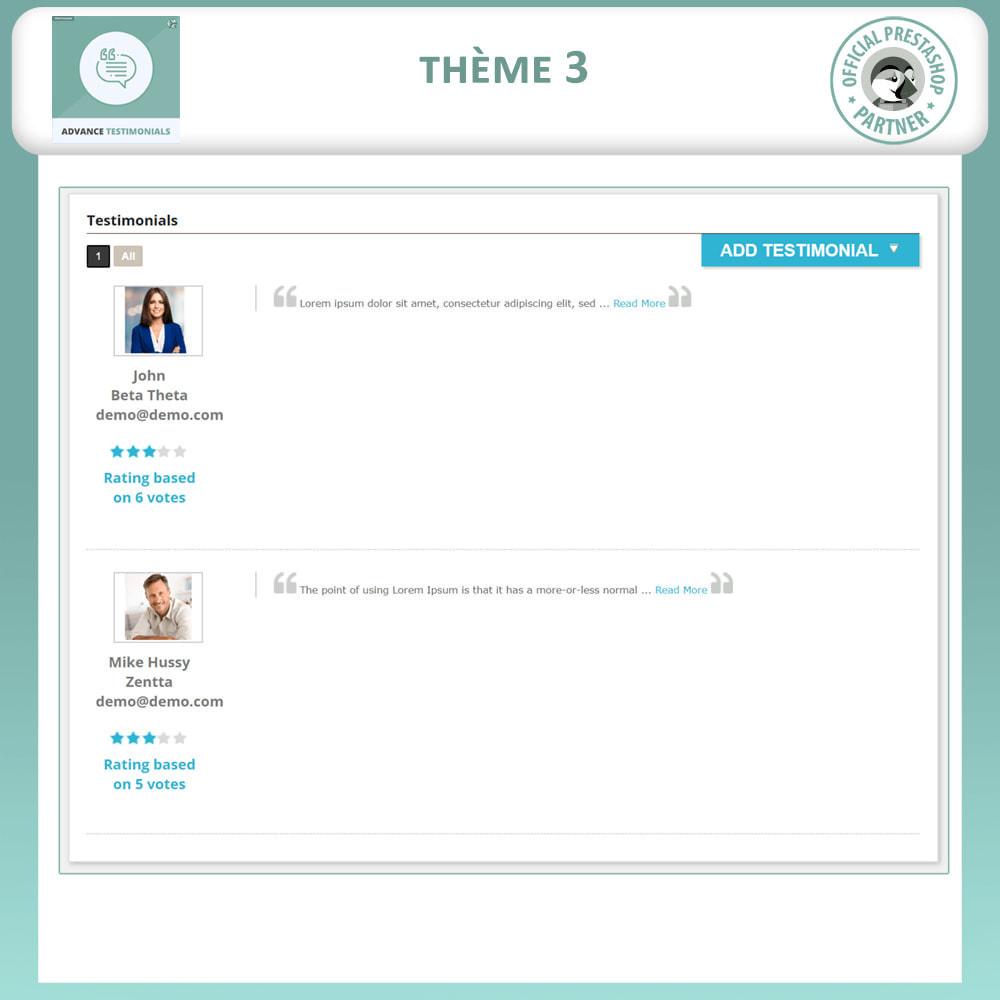 module - Avis clients - Témoignages avancés - Avis Clients avec Photos - 4