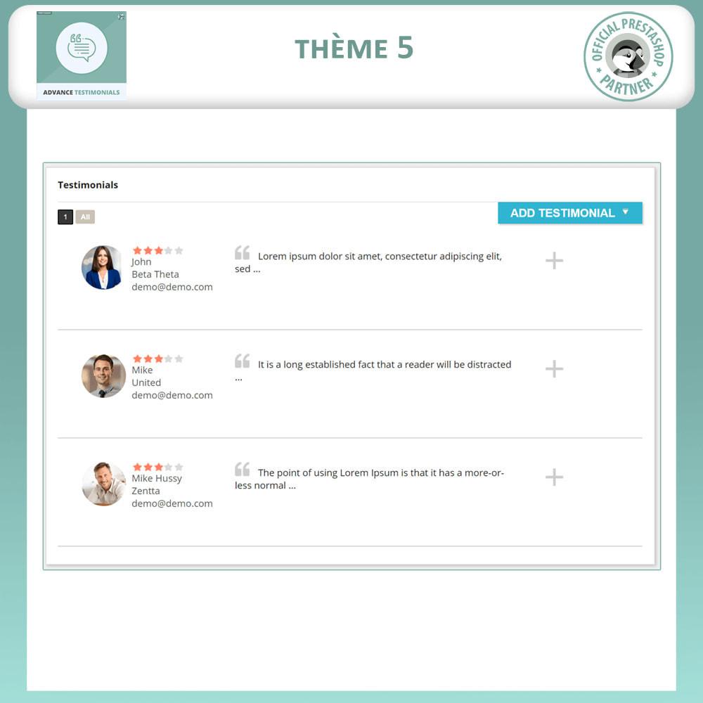 module - Avis clients - Témoignages avancés - Avis Clients avec Photos - 6