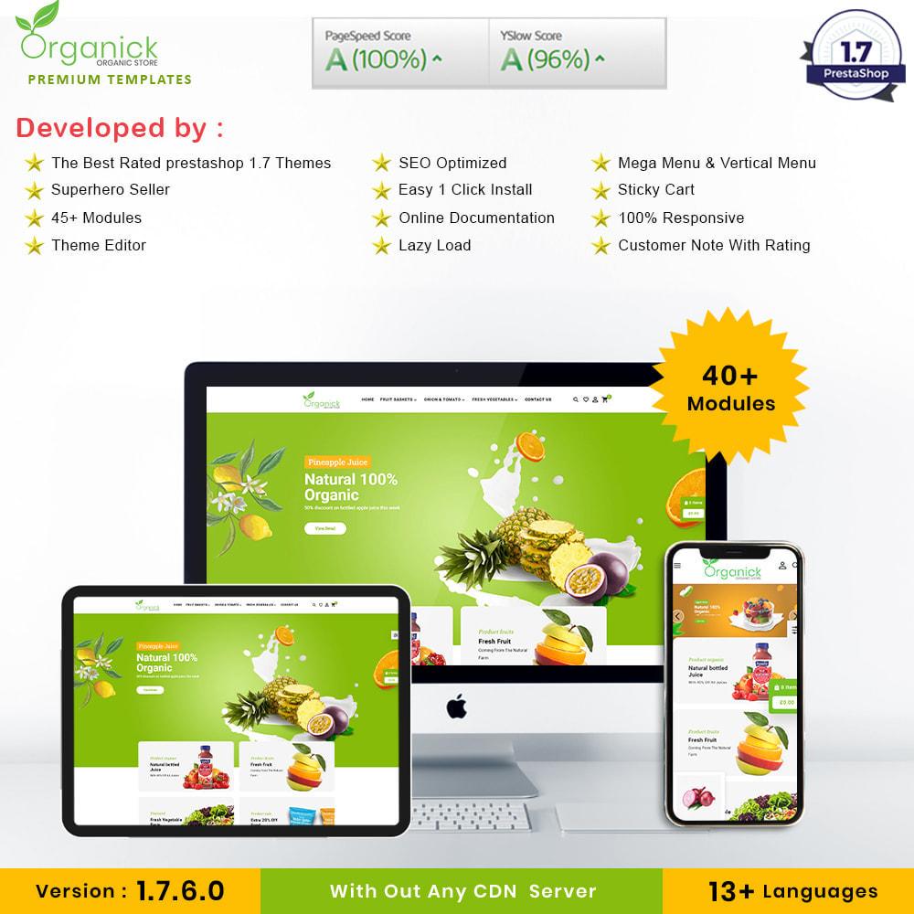 theme - Продовольствие и рестораны - Organick Organic Store - 1