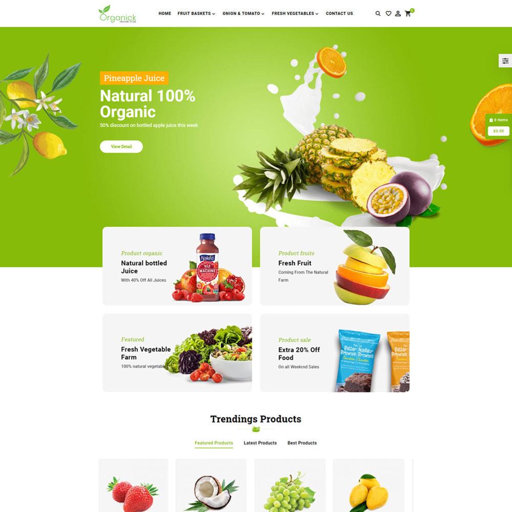 theme - Продовольствие и рестораны - Organick Organic Store - 2