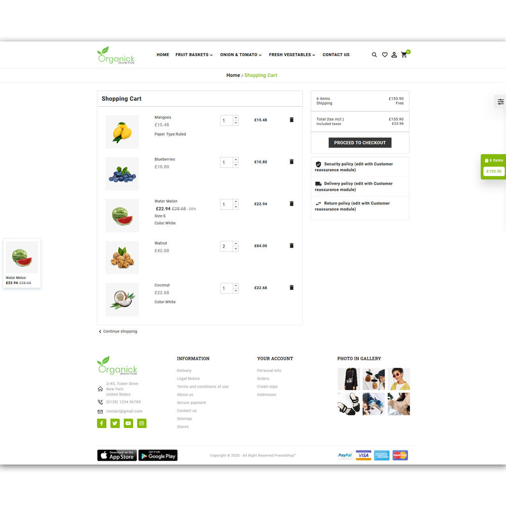 theme - Продовольствие и рестораны - Organick Organic Store - 6