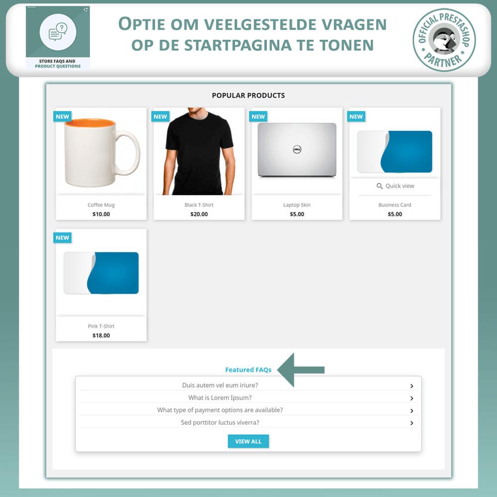 module - FAQ (Veelgestelde vragen) - Winkel FAQs + Product FAQs (Veelgestelde Vragen) - 2