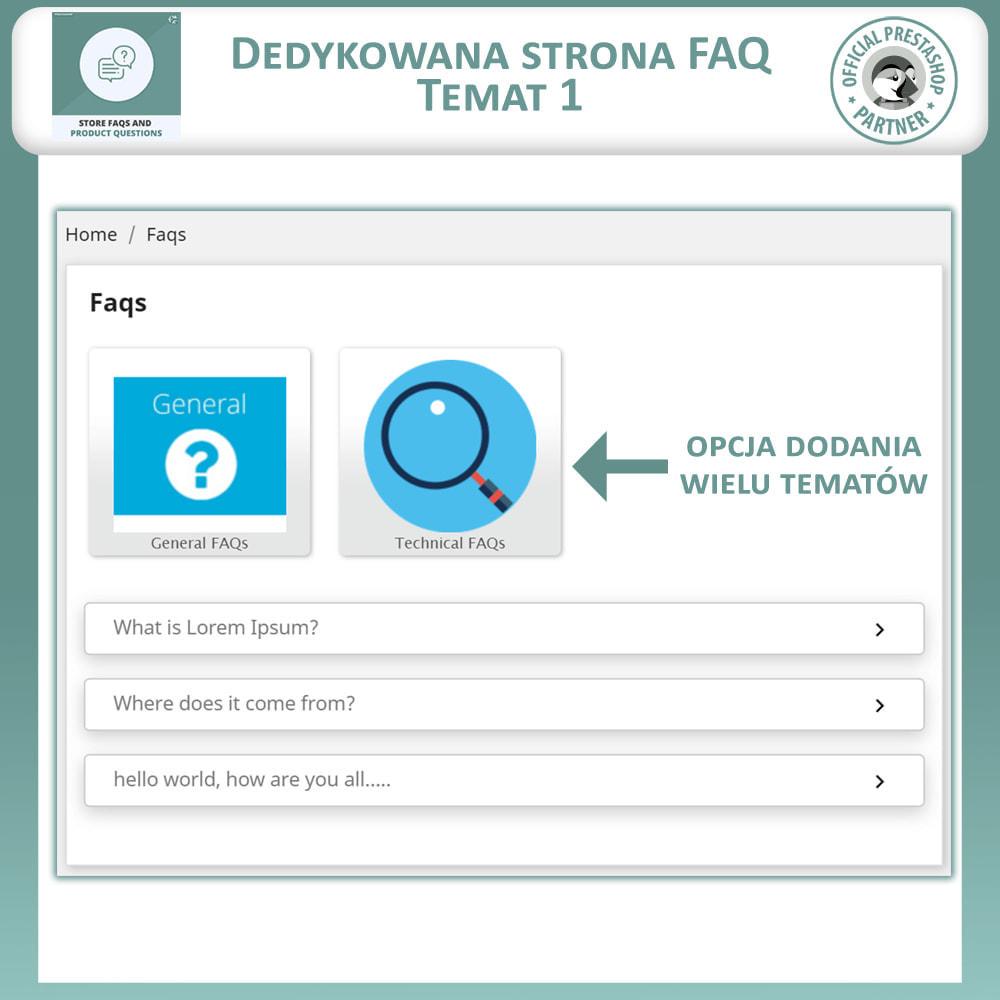 module - FAQ (Często zadawane pytania) - Sklep FAQs + Produkt FAQs (Często Zadawane Pytania) - 3