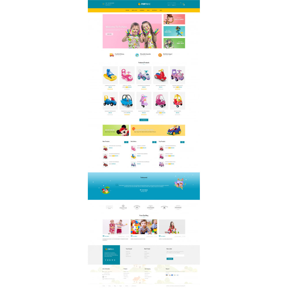 theme - Kids & Toys - Fortune - Kids Store - 2
