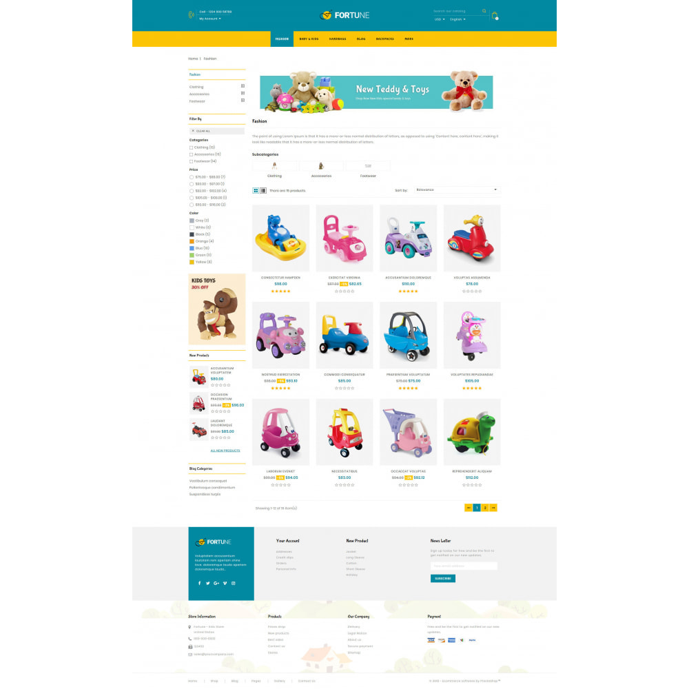 theme - Дети и Игрушки - Fortune - Kids Store - 3