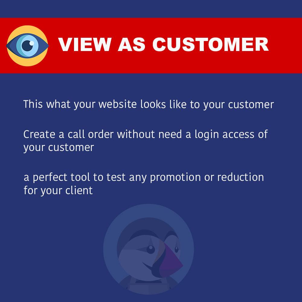 module - Orderbeheer - View as customer - 1