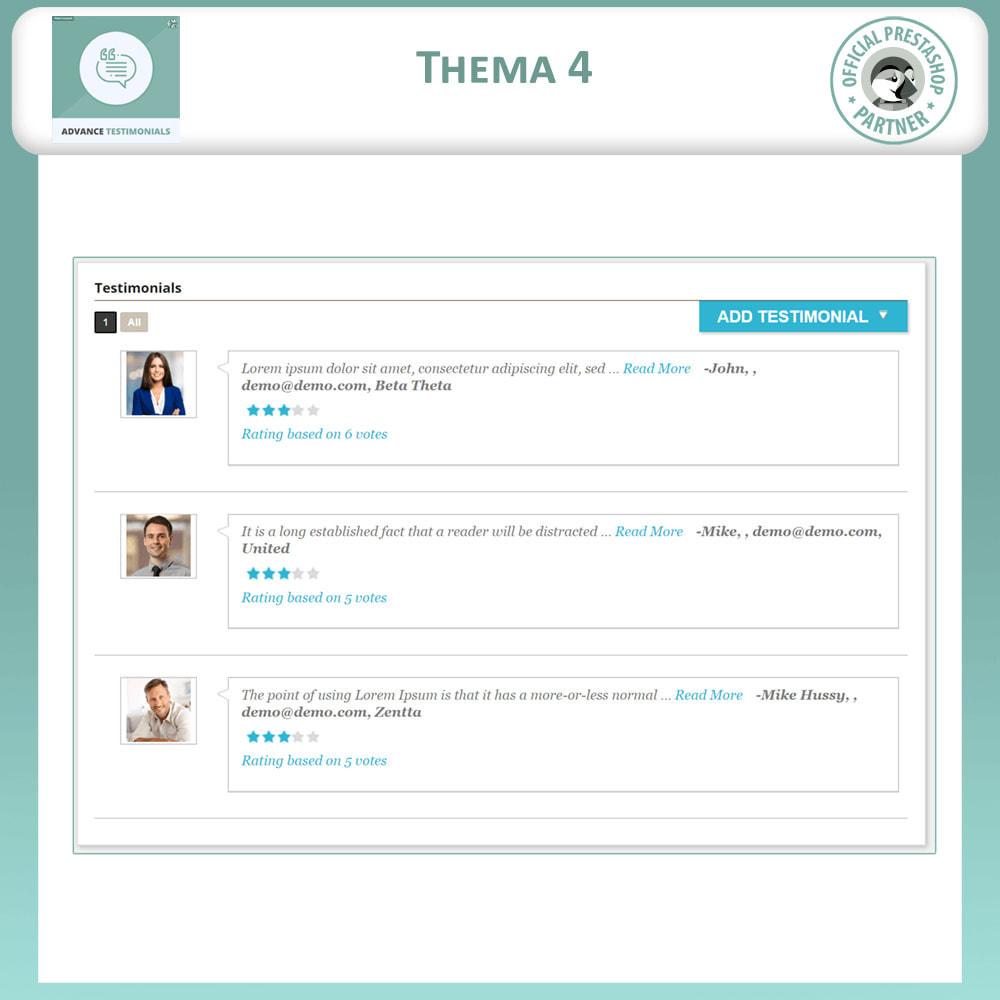 module - Kundenbewertungen - Fortgeschrittene Testimonials - Kundenrezensionen - 5