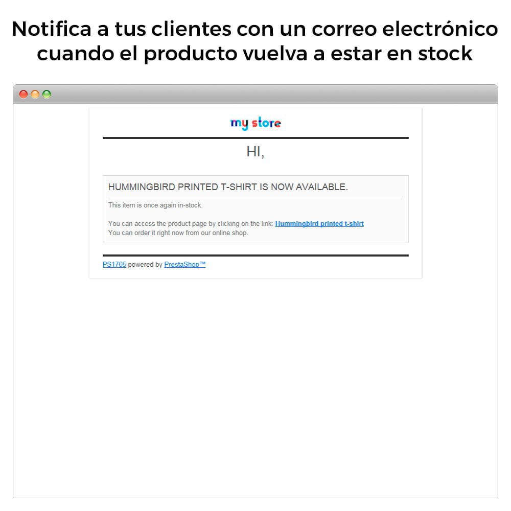 module - E-mails y Notificaciones - Alertas de Stock - Aviso de Productos Con Nuevo Stock - 6