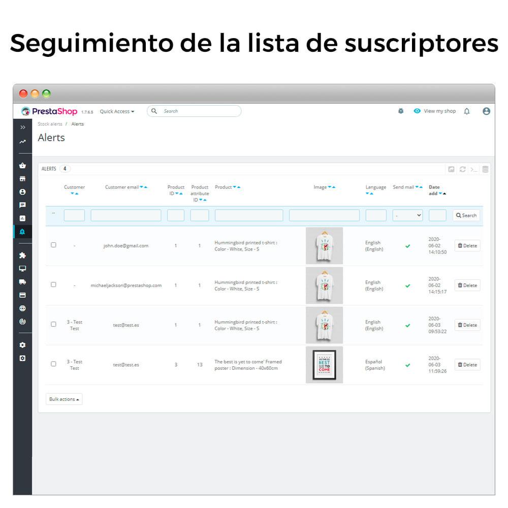 module - E-mails y Notificaciones - Alertas de Stock - Aviso de Productos Con Nuevo Stock - 7