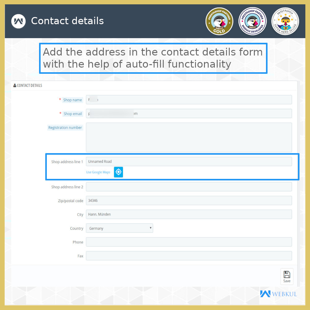 module - International & Localization - Auto-fill Address Form | Google Addresses - 16