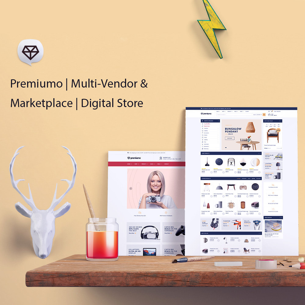 theme - Kultura & Sztuka - Premiumo | Multi-Vendor & Marketplace | Digital Store - 1
