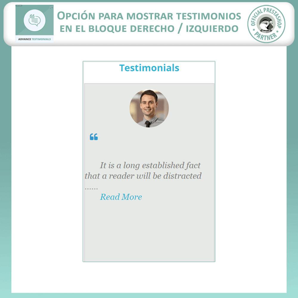module - Comentarios de clientes - Testimonios anticipados - Reseñas de Clientes - 9