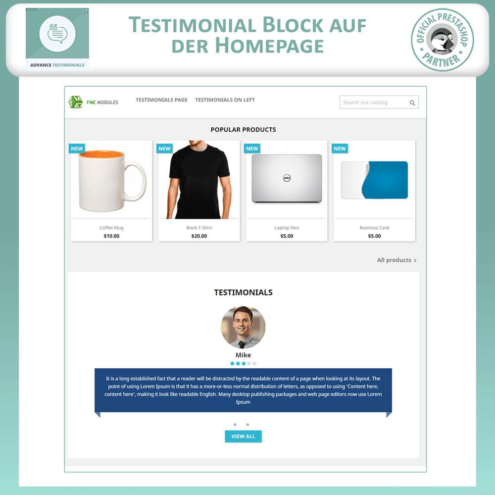 module - Kundenbewertungen - Fortgeschrittene Testimonials - Kundenrezensionen - 8