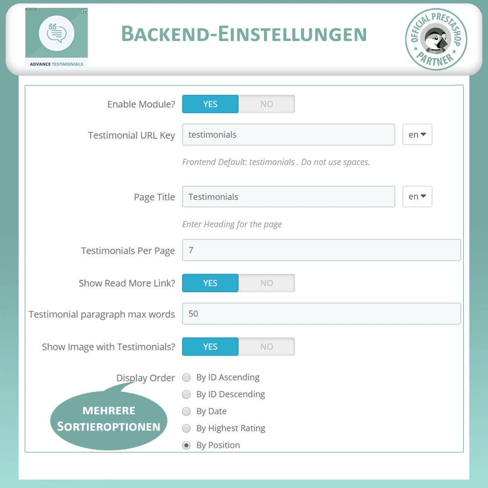 module - Kundenbewertungen - Fortgeschrittene Testimonials - Kundenrezensionen - 14