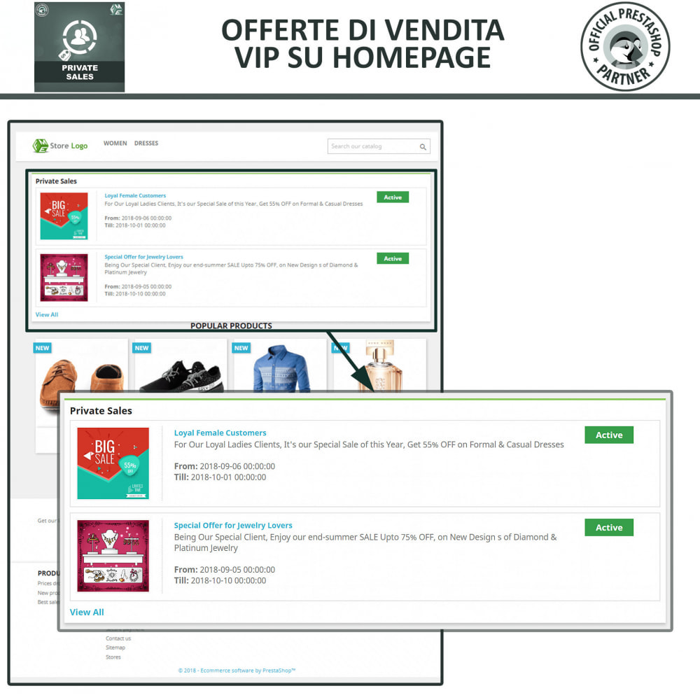 module - Flash & Private Sales - Categoria privata, vendita per gruppi di clienti VIP - 3