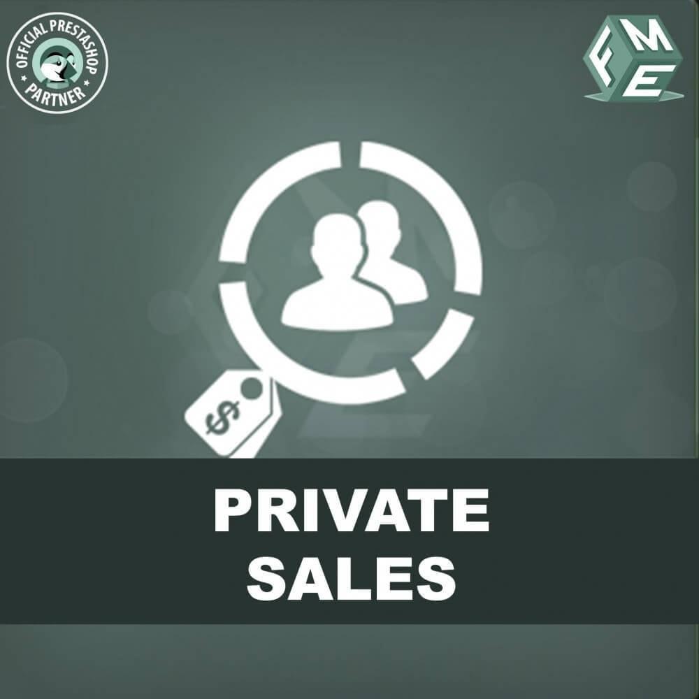 module - Uitverkoop & Besloten verkoop - Privé Verkopen voor VIP Klanten Groepen - 1