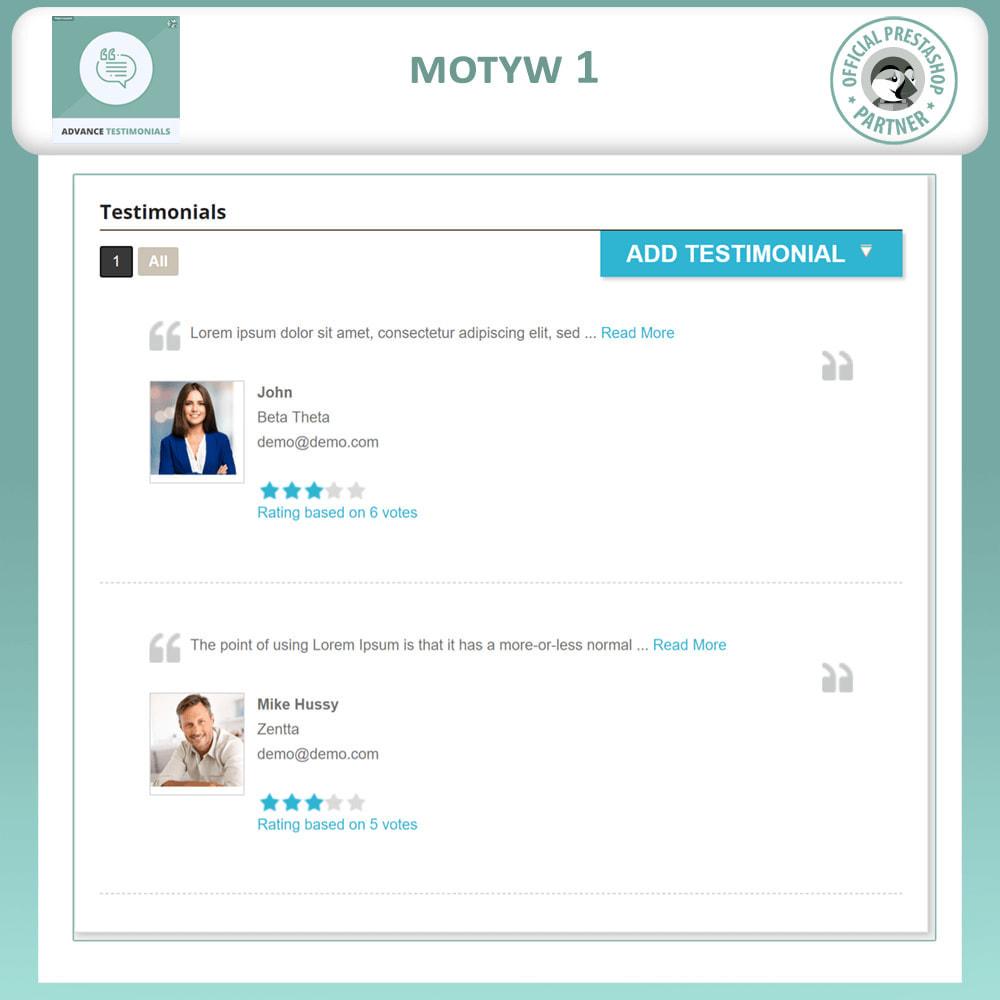module - Opinie klientów - Zaawansowane referencje-recenzje klientów ze zdjęciami - 2