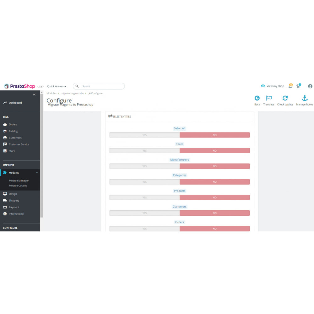 module - Migration de Données & Sauvegarde - Migrate Magento to Prestashop - 3