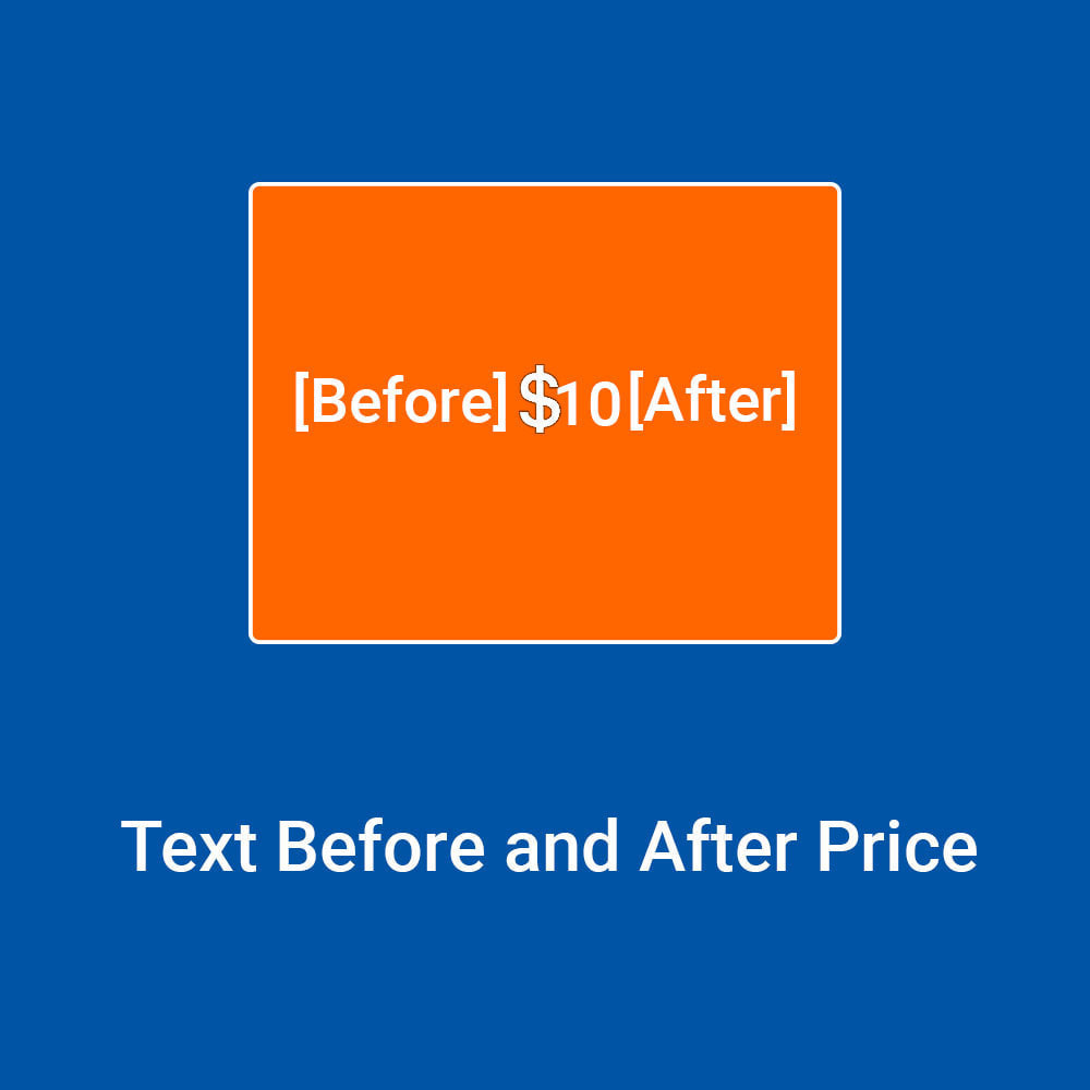 module - Price Management - Text Before and After Price - 1
