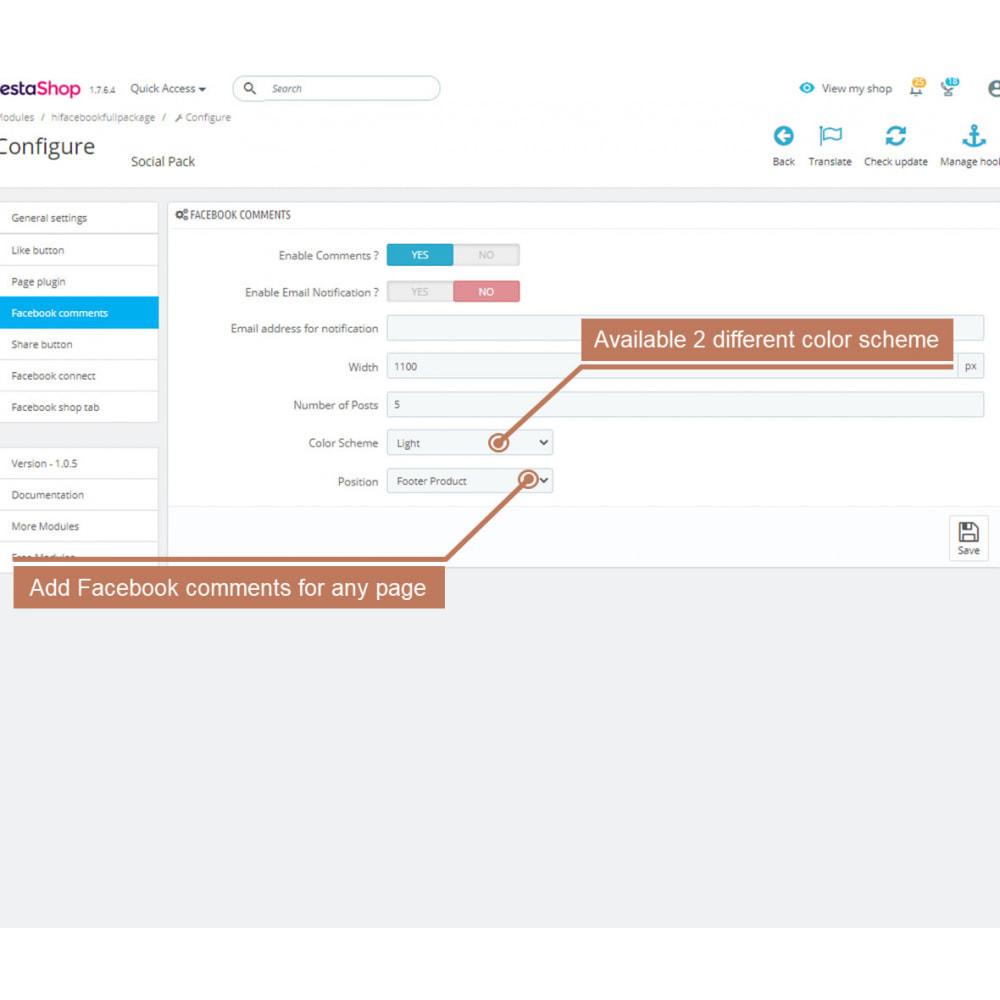 module - Deelknoppen & Commentaren - The Social Integration - Shop Tab, Comments, Login - 9