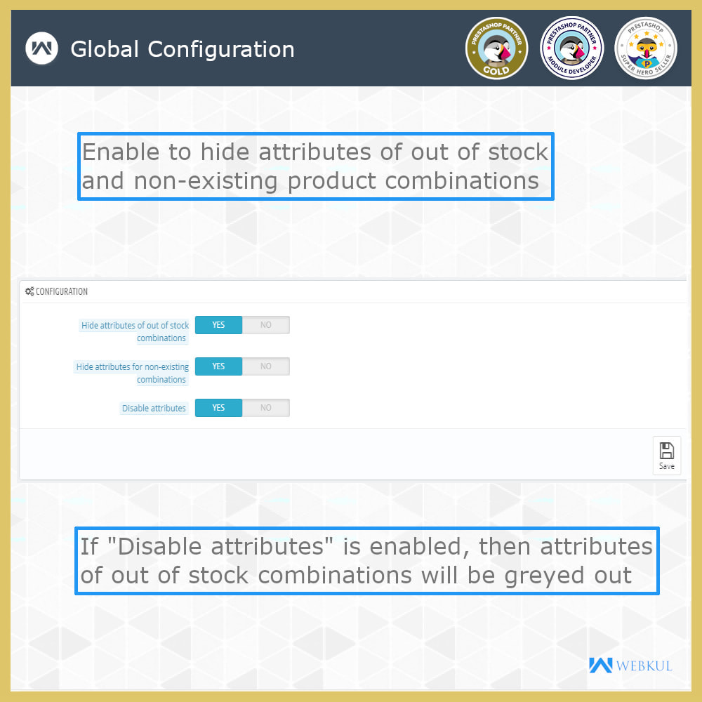 module - Combinations & Product Customization - Hide or Disable Attributes With Stock - 3