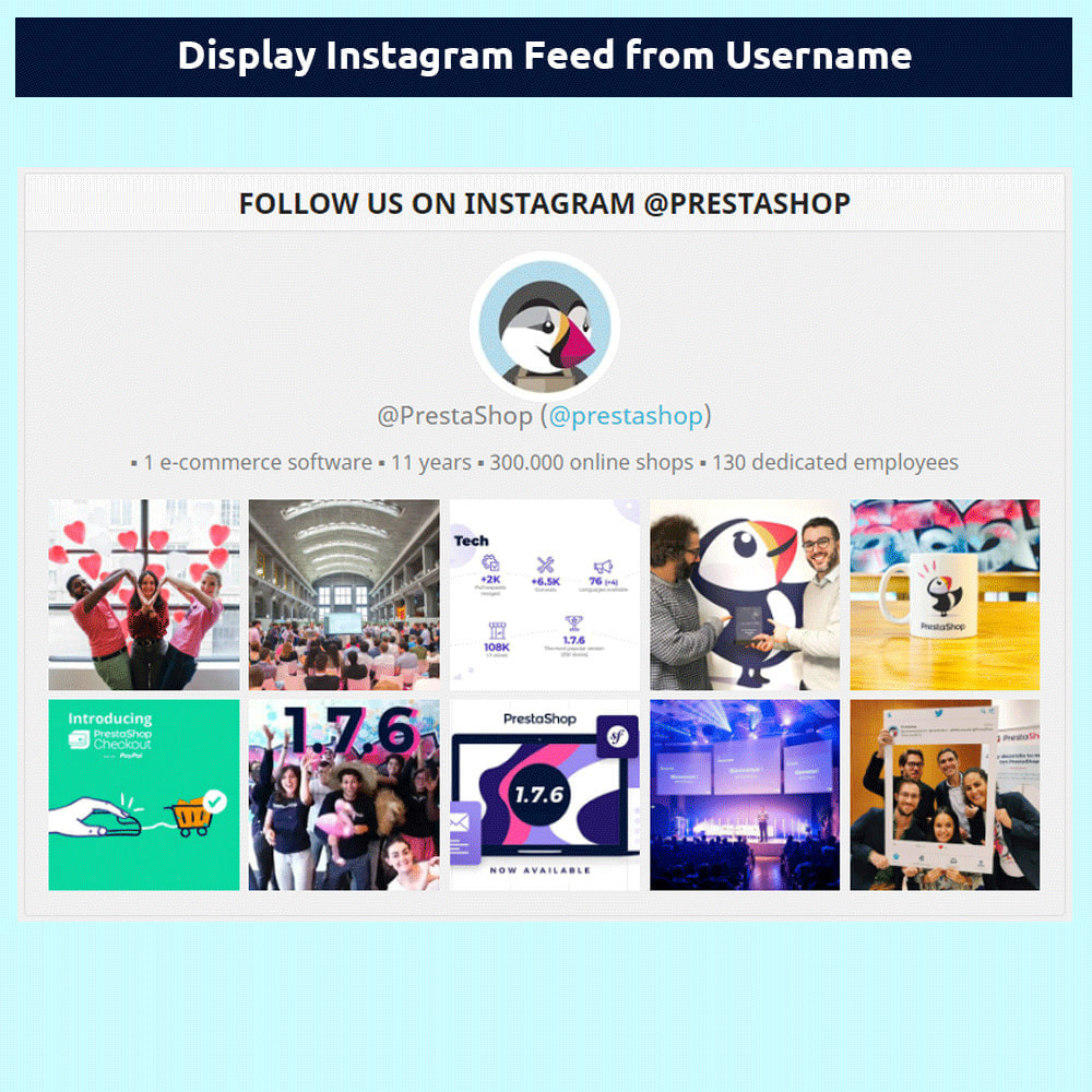 module - Товаров в социальных сетях - Instagram Feed - without access token - 1