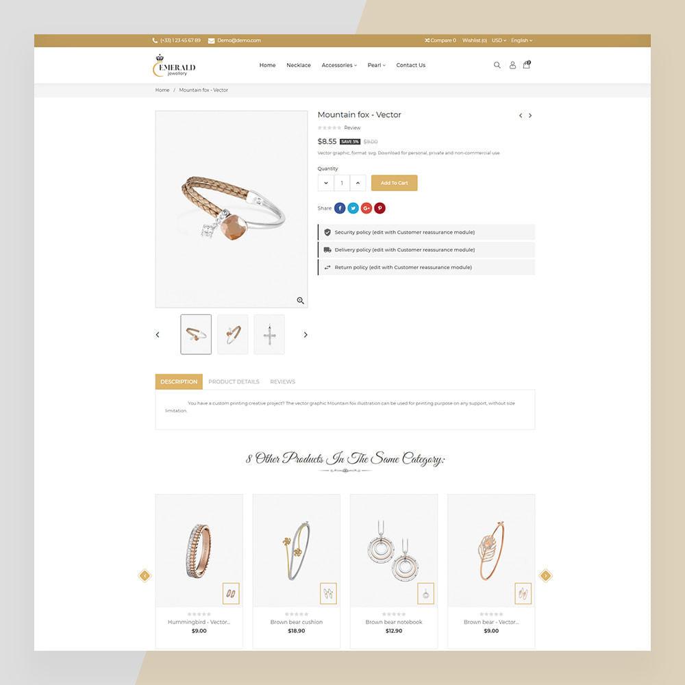 theme - Bellezza & Gioielli - Emerald Jewelry - Jewellery & Accessories Template - 15