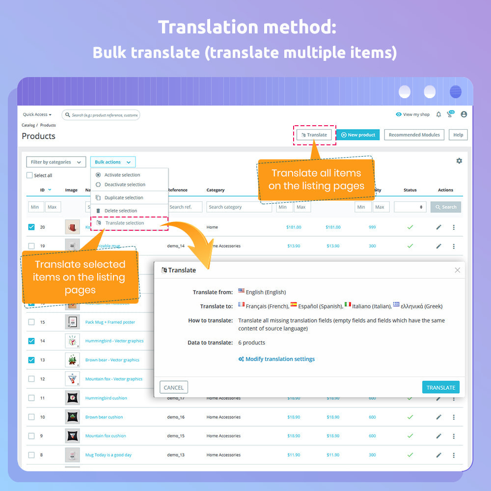 module - International & Localization - G-Translate: Translate entire PrestaShop easily! - 5