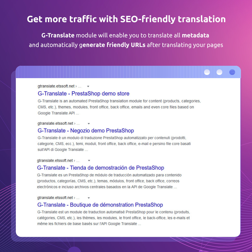 module - International & Localization - G-Translate: Translate entire PrestaShop easily! - 11