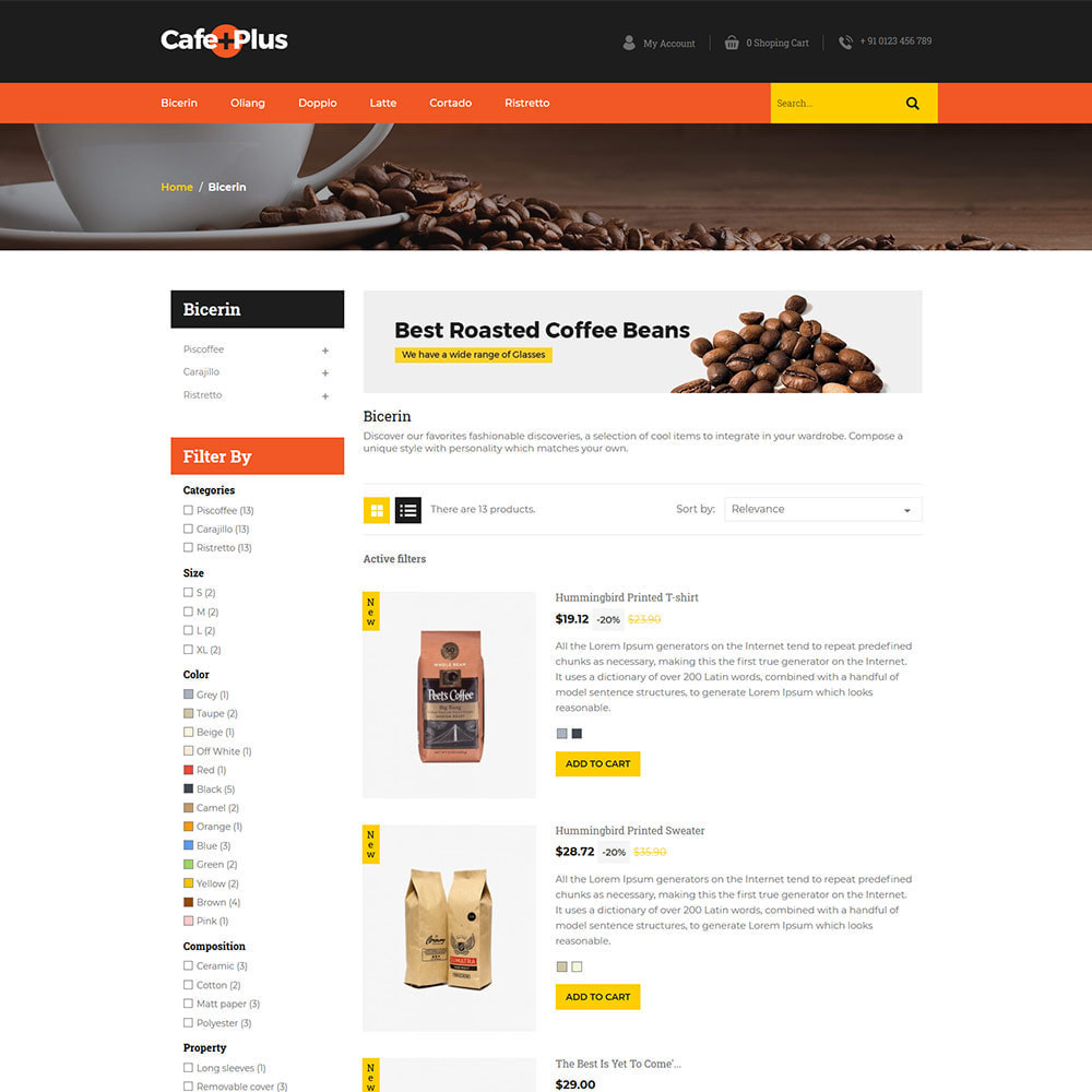 theme - Drink & Tobacco - Cafeplus Coffee - Tea Drink Store - 3