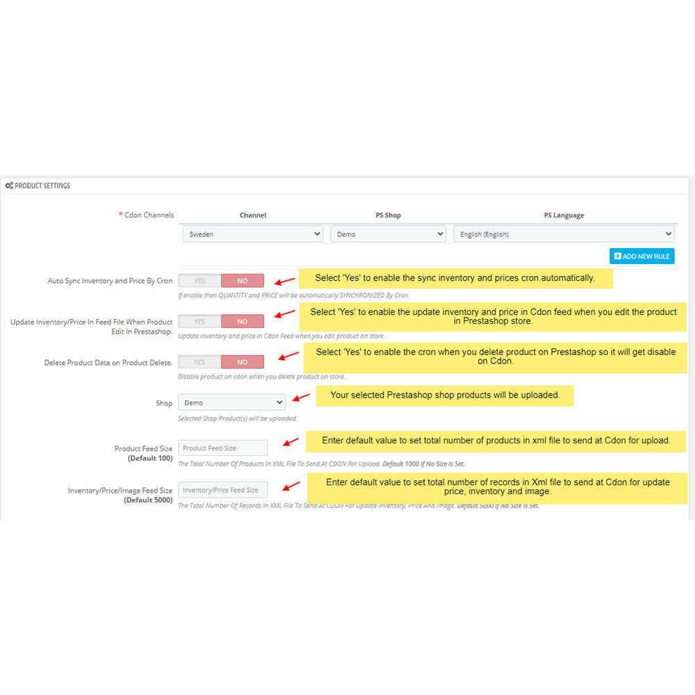 module - Datenabbindungen zu Drittsystemen (CRM, ERP, ...) - CDON Marketplace Integration - 3