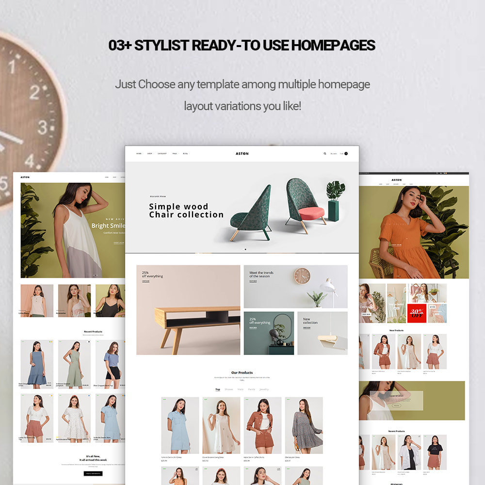 theme - Fashion & Shoes - Aston - Fashion Store & Furniture Shop - 1