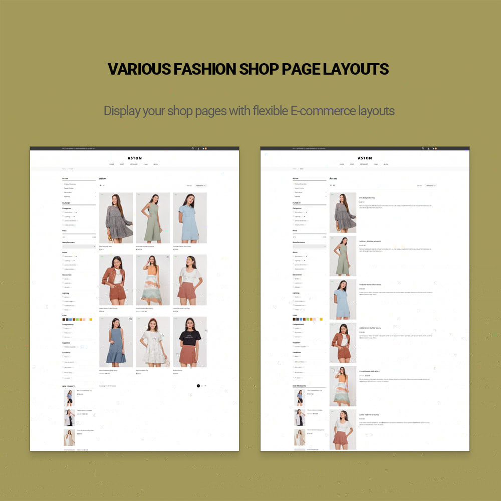 theme - Fashion & Shoes - Aston - Fashion Store & Furniture Shop - 8
