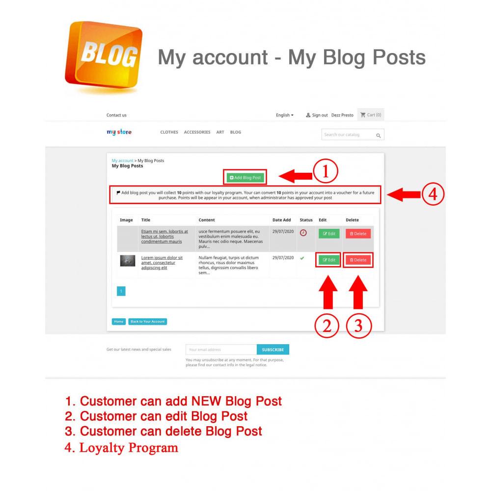 module - Blog, Forum & Actualités - Blog PRO + Programme de fidélité - 9