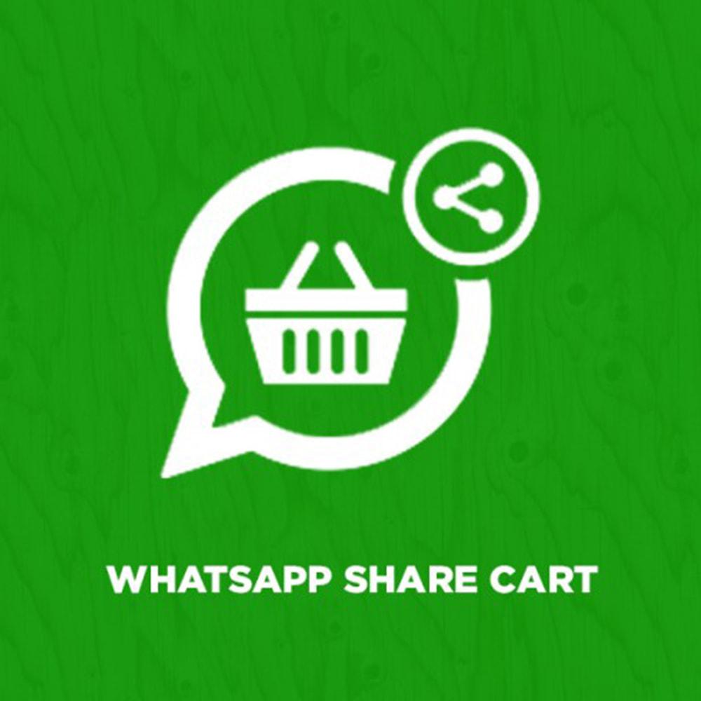 module - Послепродажное обслуживание - WhatsApp Share Cart - 1