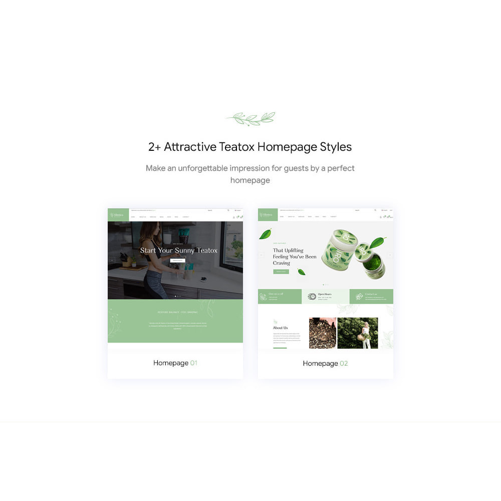 theme - Drink & Wine - Slimtea - Natural And Organic Tea Store - 3