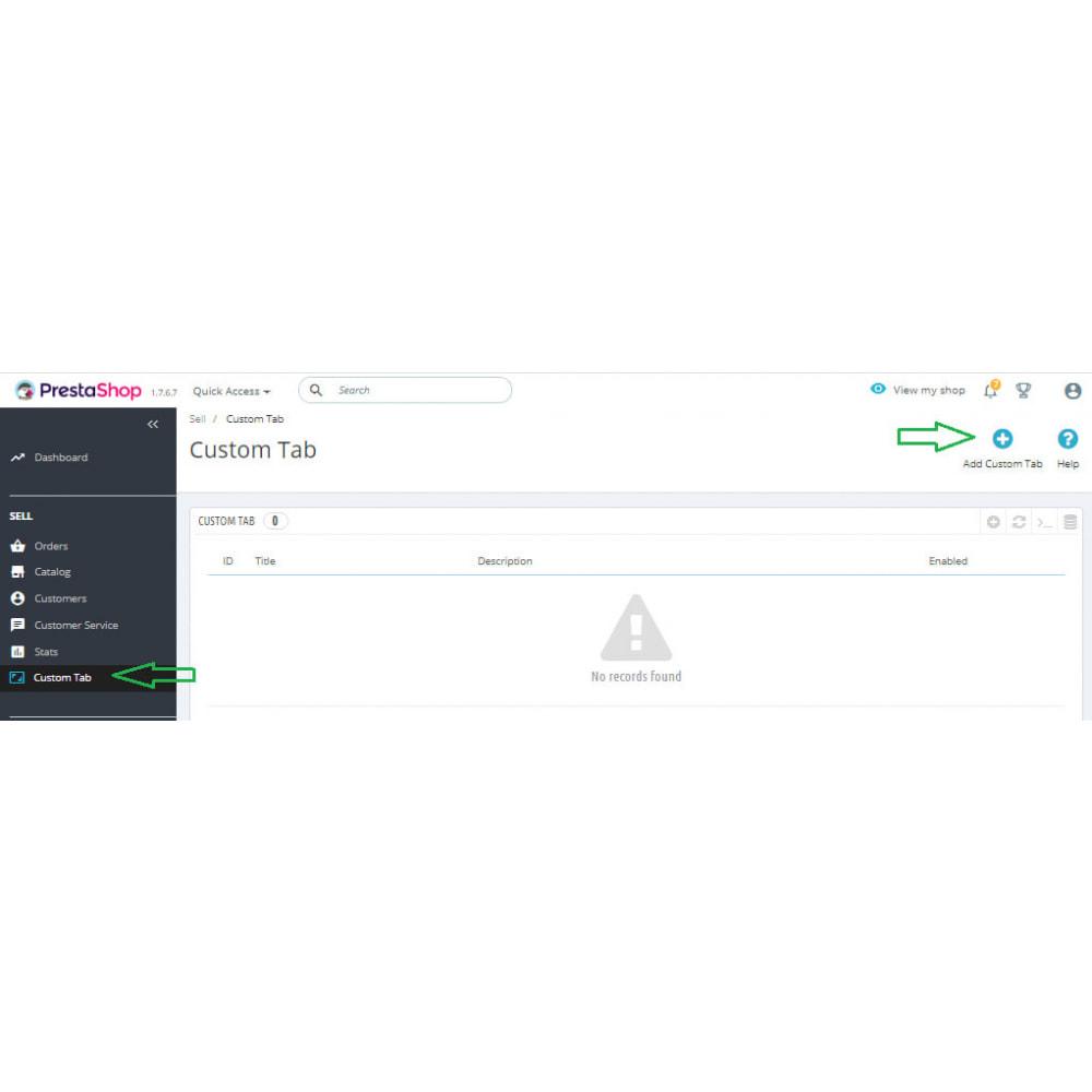 module - Blocks, Tabs & Banners - Custom Tabs Pro - 7