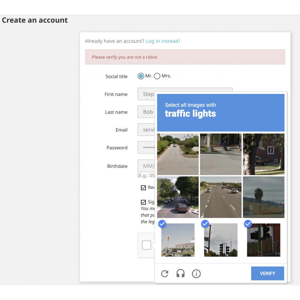 module - Security & Access - Google reCAPTCHA Security Captcha Spam Protection - 4