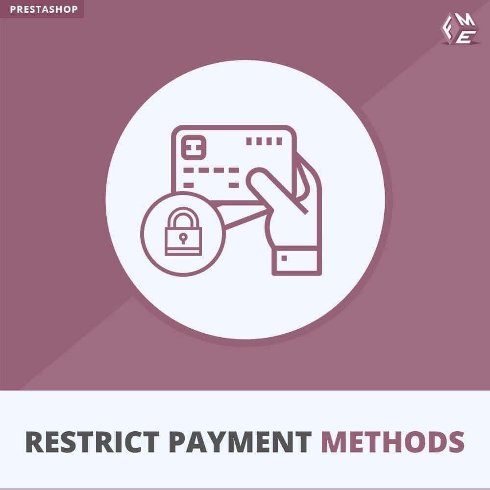 module - Andere Zahlungsmethoden - Beschränken Sie die Zahlungsmethoden - 1