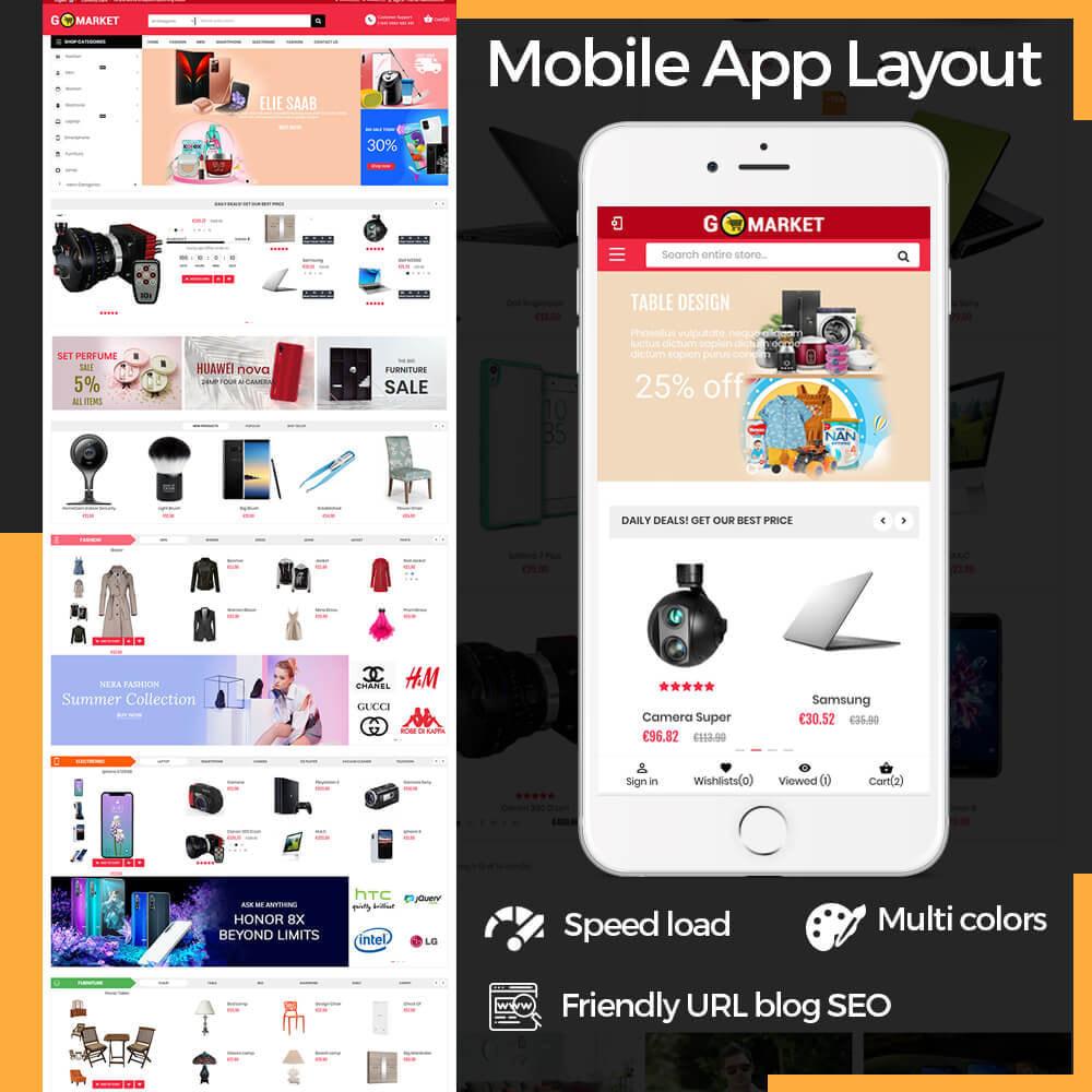 theme - Elektronika & High Tech - Supermarket & Mobile App Layout - 1
