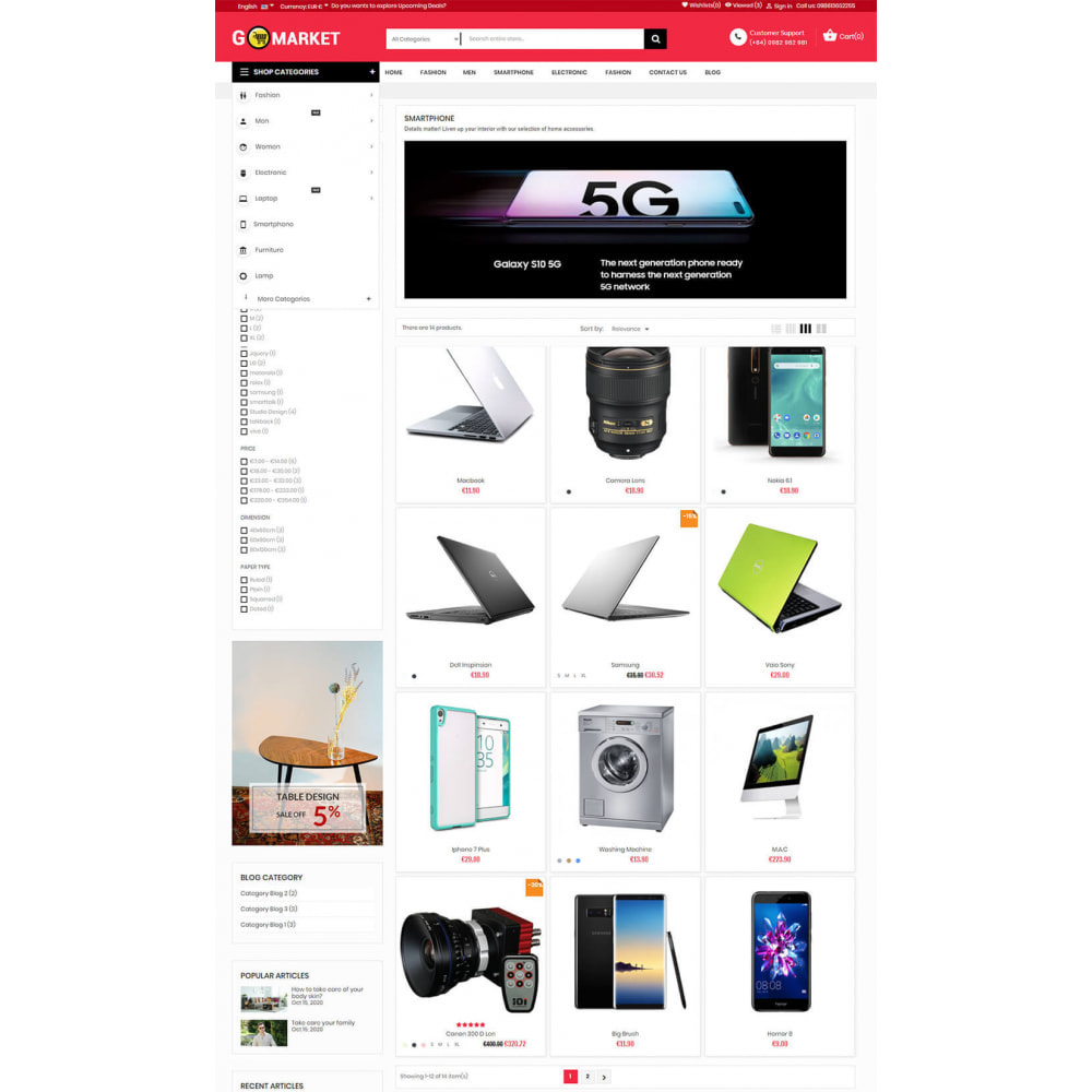 theme - Elektronika & High Tech - Supermarket & Mobile App Layout - 5