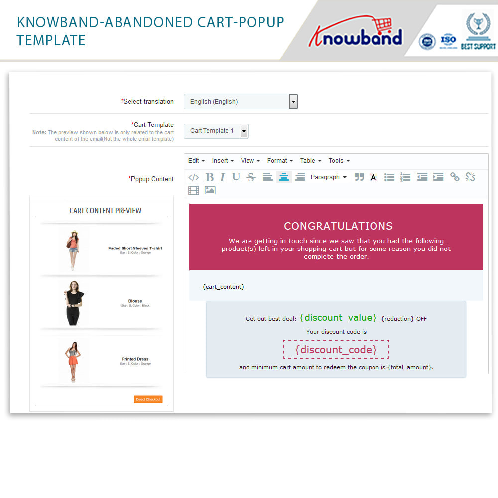 module - Remarketing & Shopping Cart Abandonment - Knowband - Abandoned Cart Serial Reminders - 16