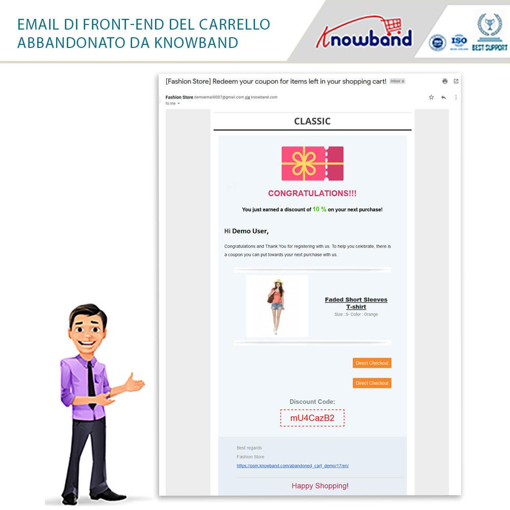 module - Remarketing & Carrelli abbandonati - Knowband-Reminder Periodici Carrello Abbandonato - 22