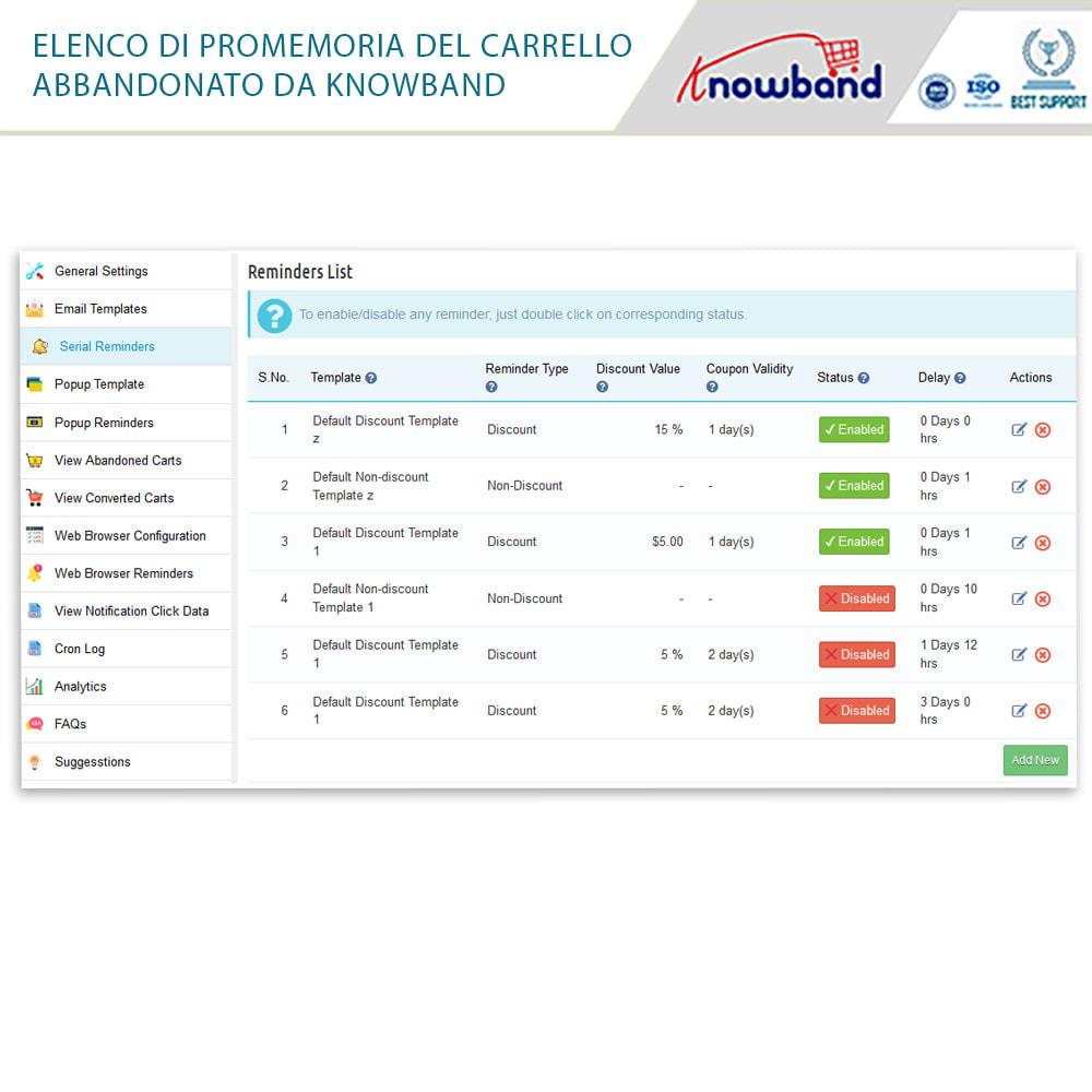 module - Remarketing & Carrelli abbandonati - Knowband-Reminder Periodici Carrello Abbandonato - 27