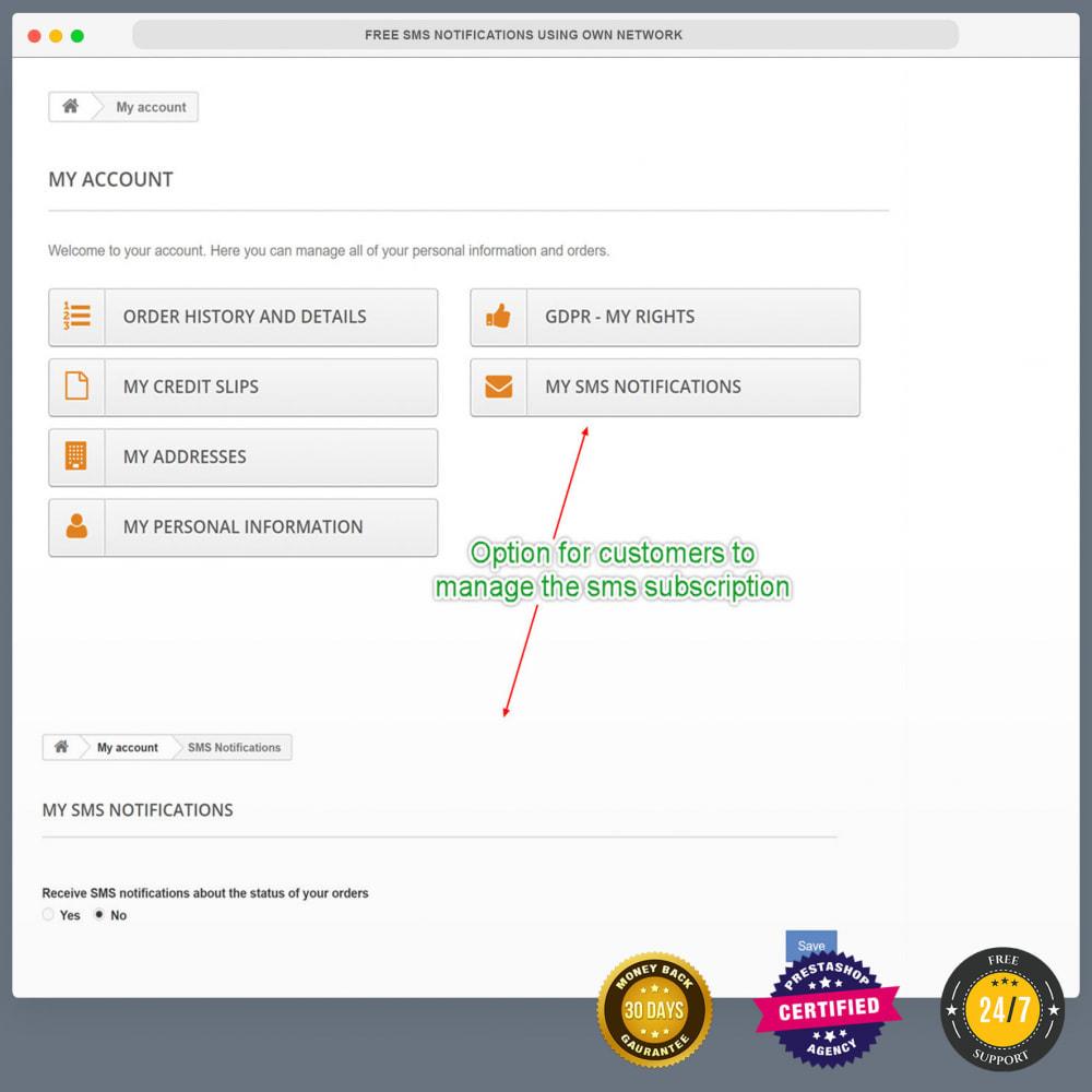 module - Newsletter & SMS - Notifiche SMS gratuite tramite la propria rete - 31