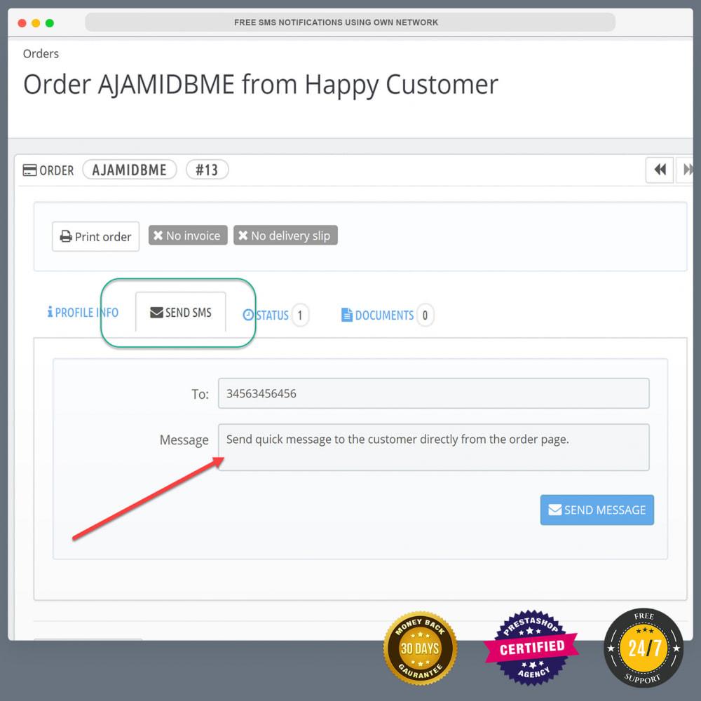 Gratis sms-meldingen via eigen netwerk - PrestaShop Addons