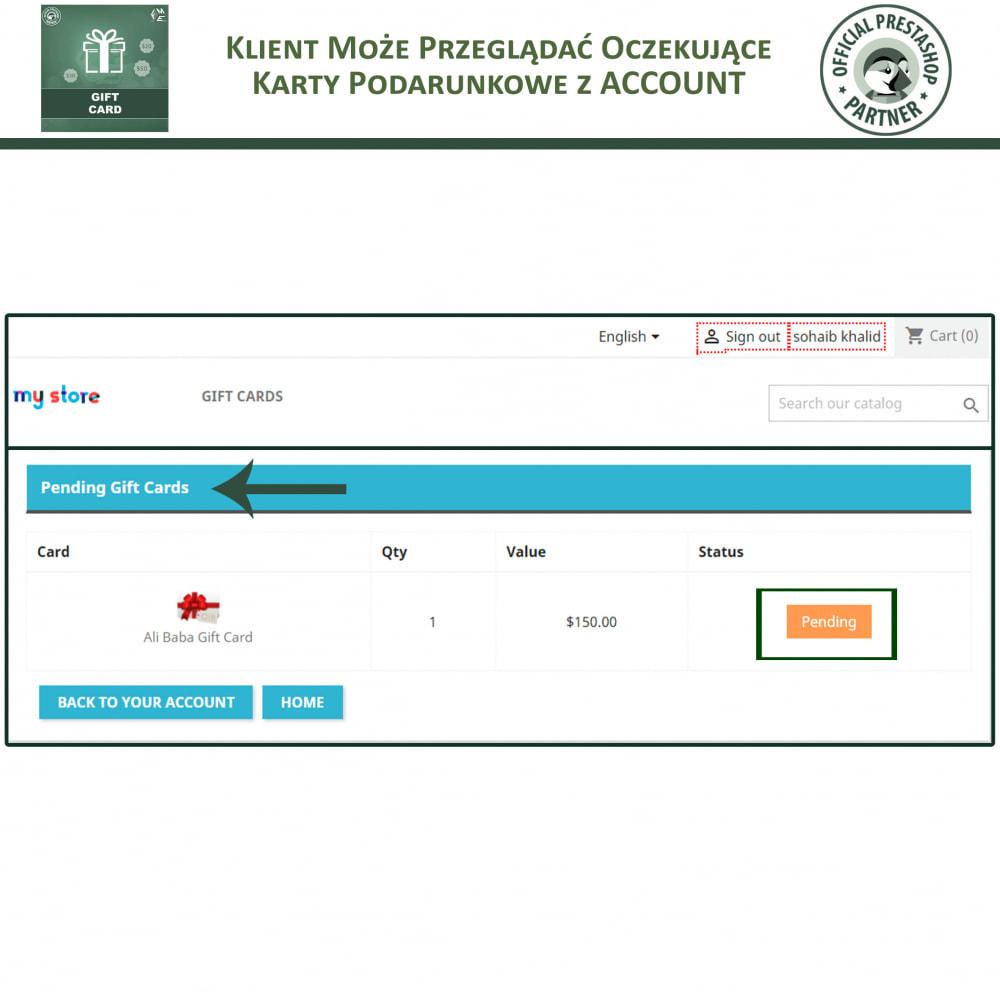 module - Lista życzeń & Karta podarunkowa - Karta Podarunkowa - 7
